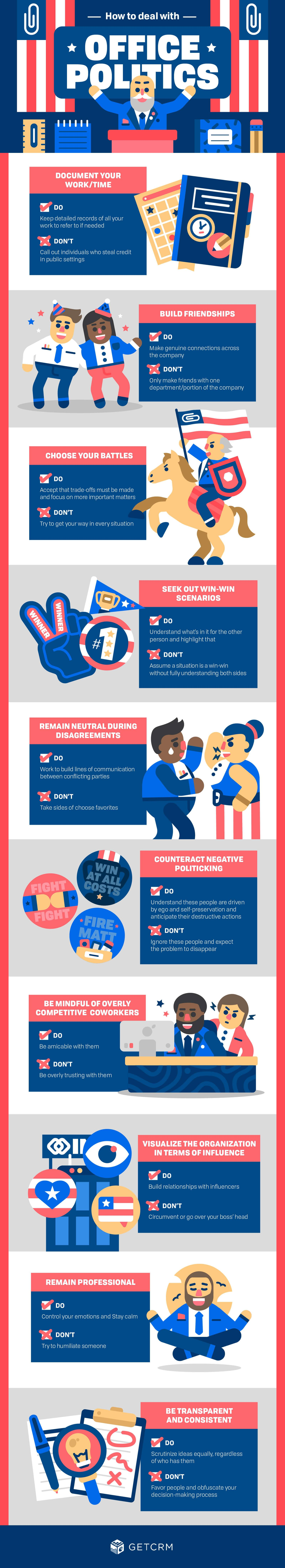 office politics how to deal in workplace infographic