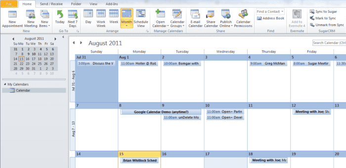outlook-calendar-integration