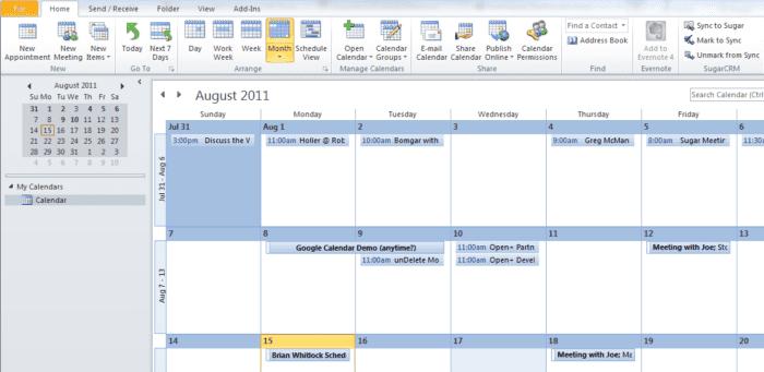 outlook-calendar-integration