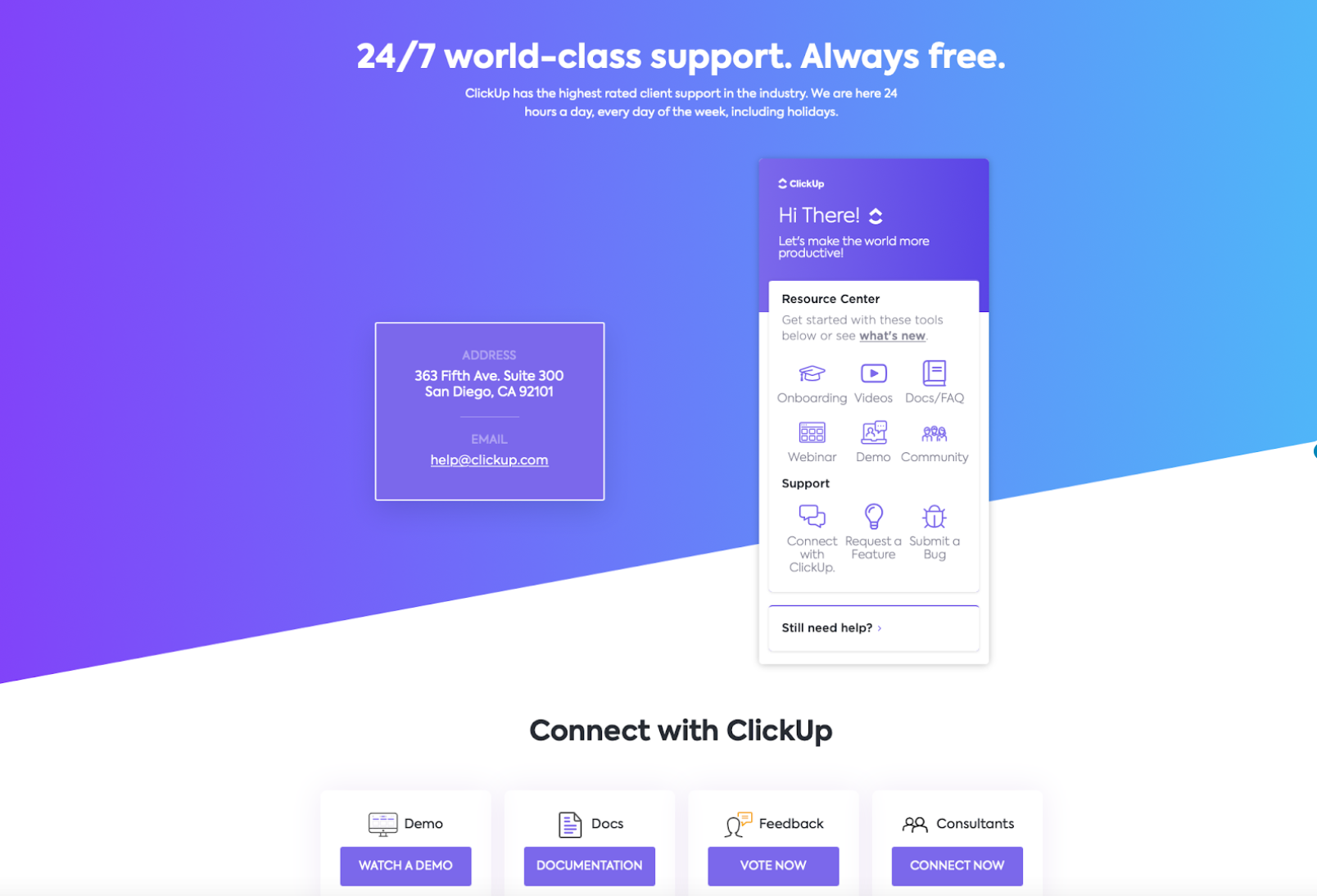 Clickup features